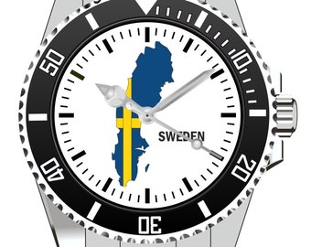 Sweden Sweden country outline clock - watch 1102