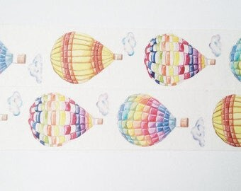 Design Washi tape of colorful hot-air balloons