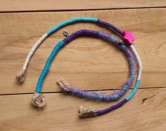 Pastel goth hair jewelry, 2 hair wrap, unicorn hair wrap, unicorn hair jewelry, festival dreads