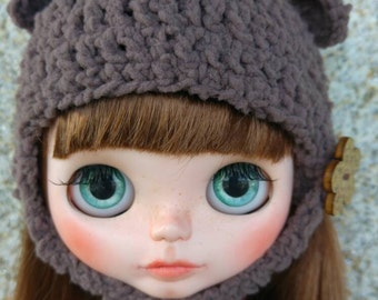 CAP for Blythe, Bear Teddy bear hat