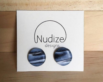 """Handmade statement stud earrings // gifts for her // """"Sarah"""""""