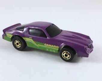 Hot Wheels Die Cast Car, Vintage Camaro Z 28, 1980s Metal Toy, Mint Condition, Sealed in Plastic