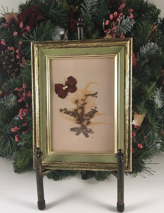 Dried Flower Picture With Frame Vintage Pressed Flower Wall