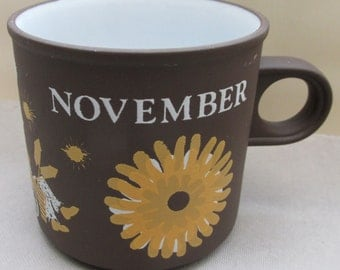 Vintage 1970s Hornsea Love Mug by Kenneth Townsend - November