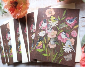 Birdies In the Poppies • Notecards
