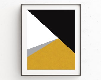 Geometric Art, Gold Print, Minimal Modern Wall Prints, Minimalist Art, Geometric Prints, Black and Gold, Gold Wall Art, Wall Decor, Gold