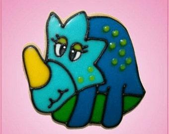 Pink Styracosaurus Cookie Cutter