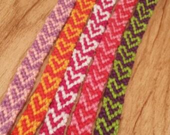 Custom Heart Friendship Bracelets