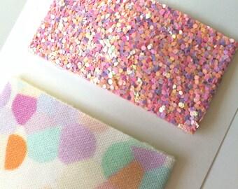 Confetti Snap Clip//Glitter Snap Clip Set
