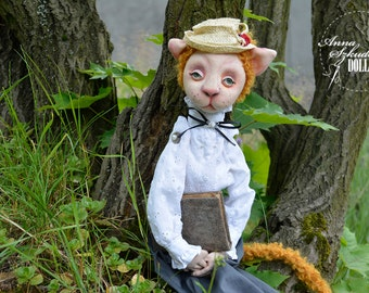 Vanessa Catty  - OOak doll - textile doll- fabric doll- rag doll- home decoration- handmade toy- handmade doll