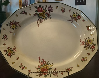 "Royal Doulton 16"" Serving Platter in Old Leeds Sprays Pattern/ Platter"