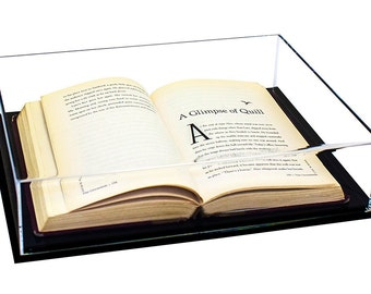 Deluxe Clear Acrylic Book Display Case with UV Protection