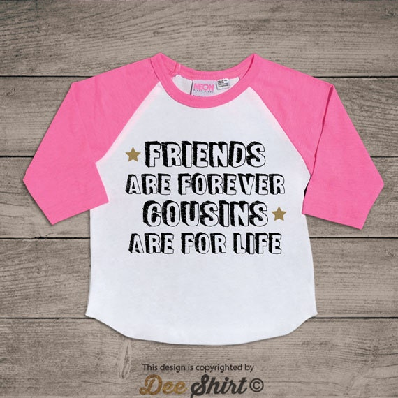 Cousin t-shirt; big cousin shirt; cousins make best friend forever tee; best cousin ever; gift for baby shower; boy girl toddler kids outfit