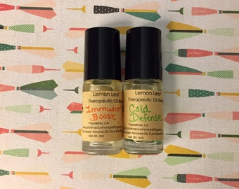 Set of 2 Therapeutic Cold Fighting Oils