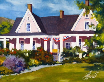 Brigham Young Summer House, Patriotic House Painting, White House Painting