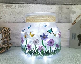 Custom design Light Jar, Personalised gifts, customised lights, home decor gift, table lamp, baby's room lighting, fairy light jar, birthday