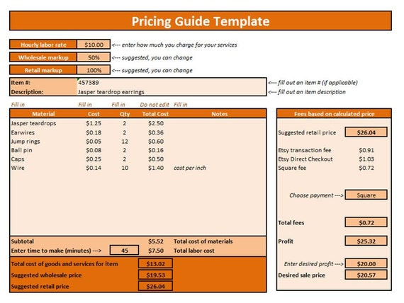 Excel Price Sheet Template  BesikEightyCo