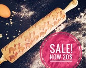 ALPACAS rolling pin, embossing rolling pin, engraved rolling pin by laser