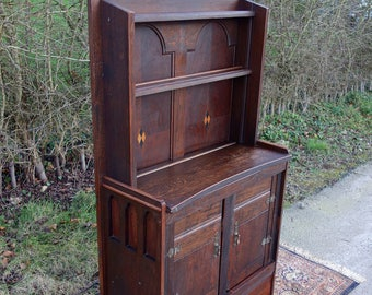 Old Rustic Dresser, Welsh Dresser Bookcase/Cabinet, Country Display Dresser