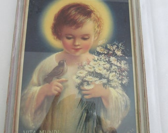 Vintage frame religious Convent of the sacred heart falls Montreal