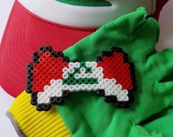 Ash Ketchum Hat Pokemon Perler Bead Hair Bow/Clip
