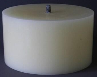 Candles, Outdoorkerze, big garden candle, fire pot, burn-pot, Brazier, diameter cream, 24 cm, height 14 cm