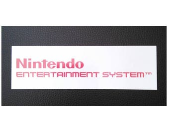 Nintendo NES Logo Sticker Decal