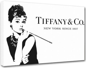 Tiffany & Co, Audrey Hepburn, tfo1, modern art, print on canvas, interior decoration, furniture design - Made in Italy