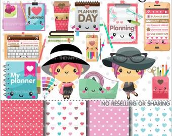 80%OFF - Planner Clipart, Planner Graphics, COMMERCIAL USE, Planner Icons, Planning Clipart, Planner Accessories, Planner Girl, Plan