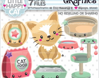 80%OFF - Cat Clipart, Cat Graphic, COMMERCIAL USE, Cat Party, Planner Accessories, Pet Clipart, Kitten Clip Art, Animal Graphics