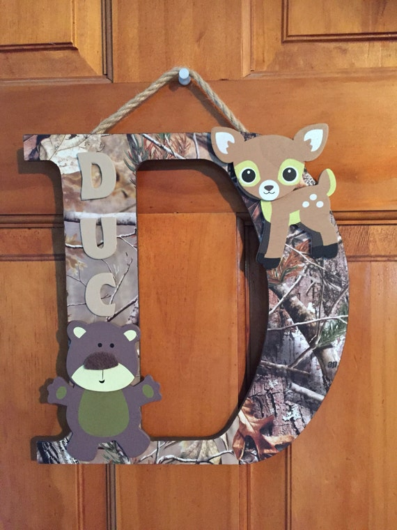 Woodland Themed Wall Letters Deer Theme Kids Rooms