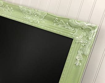 Framed Office Chalkboard Ornate Chalk Board Baroque Chalkboard Menu Bridal Sign Seating Chart Wood Frame Nursery Wall Decor