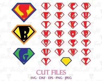 Superhero Shield SVG, Superhero Shield Cut Files, Superhero Shield Alphabet SVG, Superhero Shield Alphabet Cut Files, Super Hero SVG  0074
