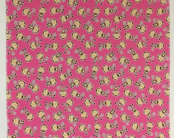 Pink Flannel Baby Receiving Blanket with Monkeys #Swaddle Cloth