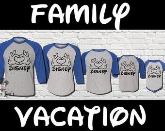 Family Vacation Disney Raglan  Shirt Bundle
