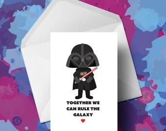 Star Wars - Valentines Card - Darth Vadar