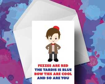 Doctor Who - Matt Smith - Fathers Day Card