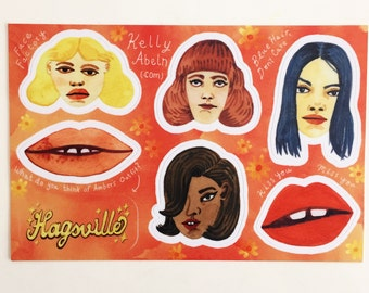 Faces & Lips Stickers