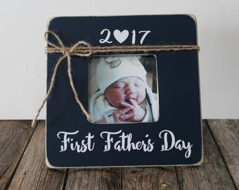 first fathers day frame fathers day picture frame new daddy picture frame navy blue frame gift for father daddy dad