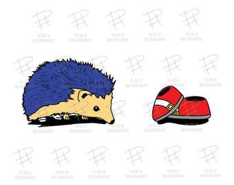 PRINT: A Speedy Little Hedgehog