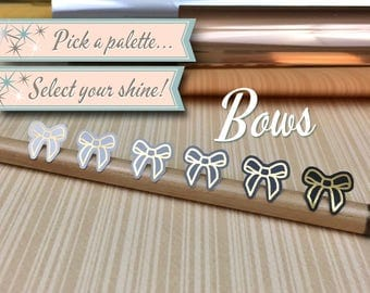 Foiled Planner Stickers | Bows | 56 Stickers Total