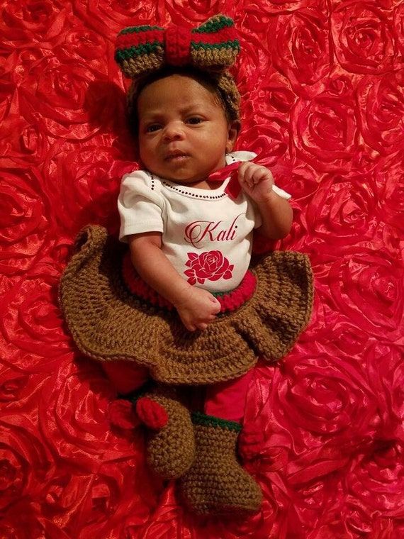 Crochet Gucci Inspired Skirt Outfit Baby Shower Photos