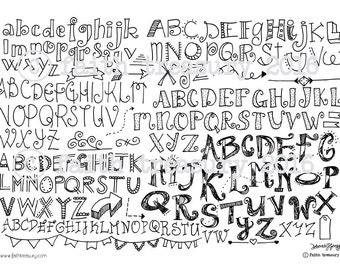 Hand Lettering Bundle for Bible Art Journaling