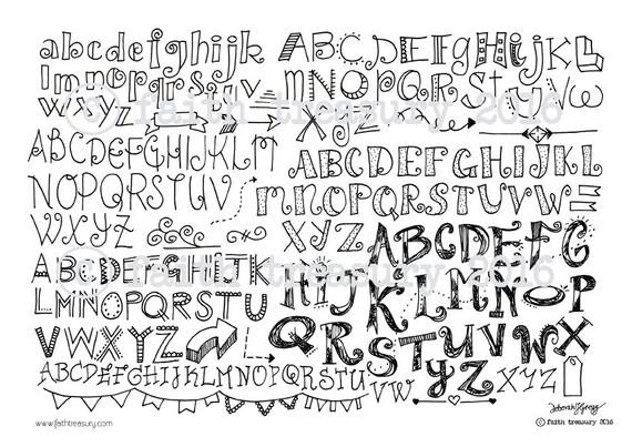 Hand Lettering Bible Journaling Hand Lettering Bundle For Bible Art Journaling