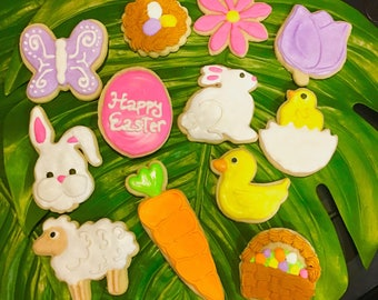 Easter Royal Icing Sugar Cookies