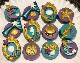 Under The Sea Chocolate Covered Oreo's, Little, Mermaid