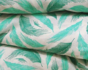 Dressmaking Cotton Fabric For Sewing Designer White Light Weight Decorative 100% Cotton Feather Printed Sewing Fabric By The Yard ZBC6790