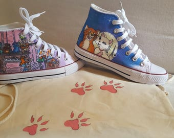 The Aristocats Hand-painted boots