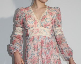 Vintage 1970s Long Vintage Gown