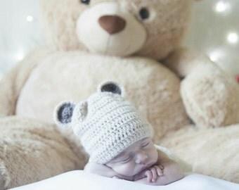 Teddy bear ears hat for a small Teddy bear